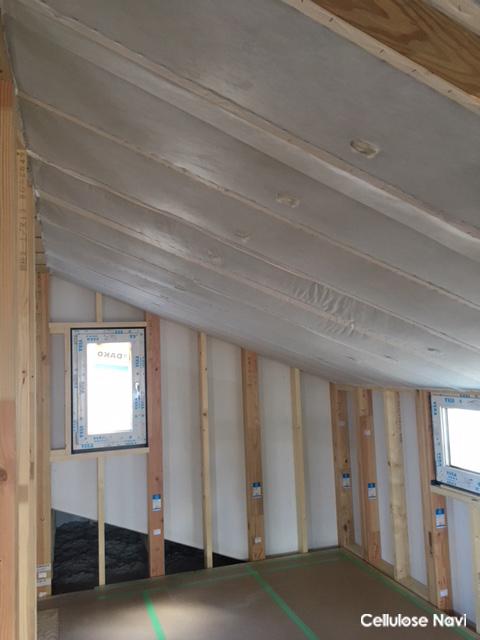 セルロース勾配天井の完成