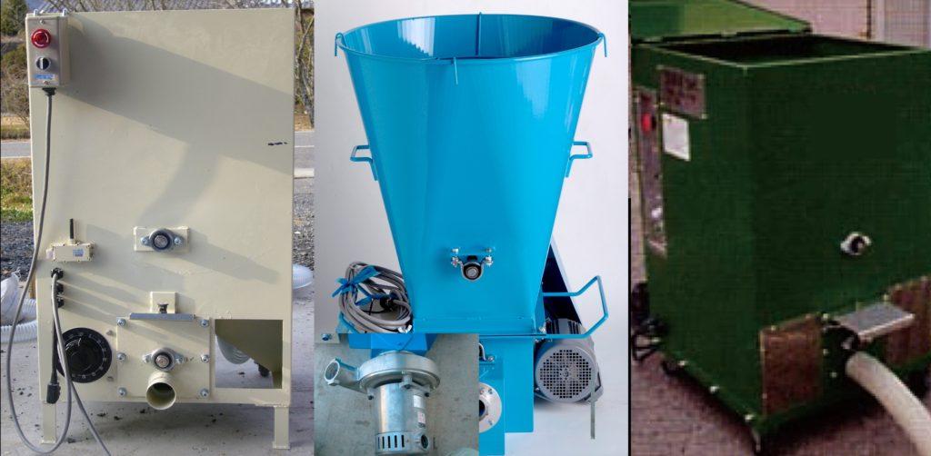 セルロース断熱材吹き込みマシーンの各タイプは施工体制に合わせてご説明します