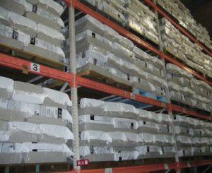 セルロースファイバーのインサイドPC材料保管状況